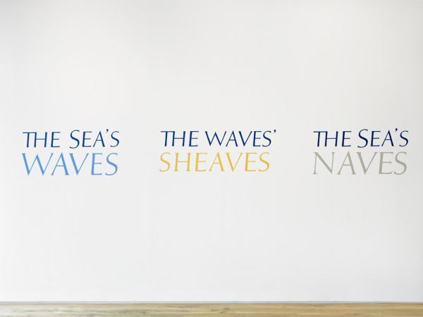 The Sea's Waves 1974 wall painting, with Stuart Barrie